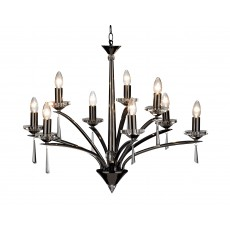 Dar Hyperion 9 Light Black Chrome Pendant Light