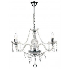 Dar Katie 3 Light Polished Chrome Chandelier Light