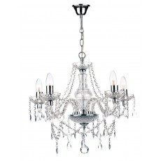 Dar Katie 5 Light Polished Chrome Chandelier Light