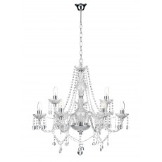 Dar Katie 9 Light Polished Chrome Chandelier Light