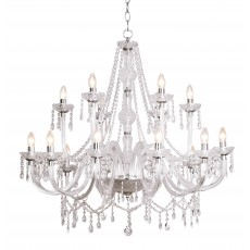 Dar Katie 18 Light Polished Chrome Chandelier Light