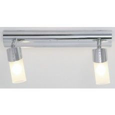 Diyas Kopus Ceiling 2 Light Polished Chrome/Frosted Glass