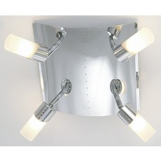 Diyas Kopus Ceiling 4 Light Polished Chrome/Frosted Glass