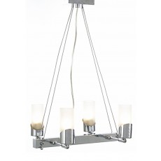 Kopus Pendant On Cable 4 Light Polished Chrome/Frosted Glass