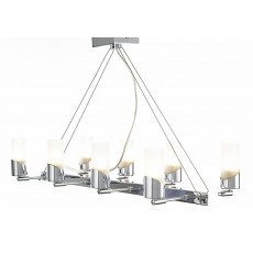Kopus Pendant On Cable 8 Light Polished Chrome/Frosted Glass