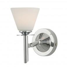Diyas Kristina Wall Lamp 1 Light Polished Chrome/Opal Glass