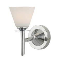 Diyas Kristina Wall Lamp 1 Light Polished Chrome/Opal Glass