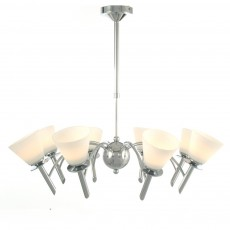 Diyas Kristina Pendant 8 Light Polished Chrome/Opal Glass