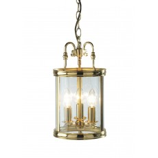 Dar Lambeth Polished Brass Lantern