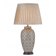 Dar Louise  Brown/Cream Base Only Table Lamp