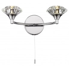 Dar Luther Polished Chrome Double Wall Light