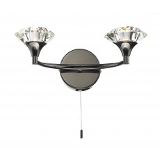 Dar Luther Black Chrome Double Wall Light