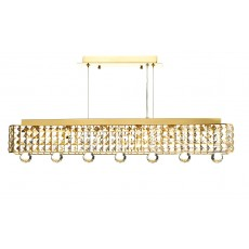 Dar Matrix 6 Light Gold Pendant Light