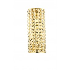Dar Matrix 2 Light Bracket Gold Wall Light