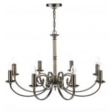 Dar Murray 8 Light Antique Brass Pendant Light