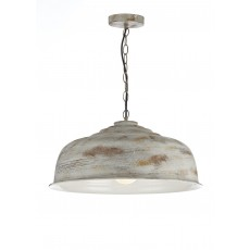 Dar Nara 1 Light Aged Metal Pendant Light