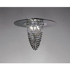 Diyas Oberon Ceiling 5 Light Polished Chrome/Smoked Mirror/Smoked Crystal