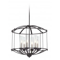 Quoizel Troy 6 Light Royal Ebony Pendant Light