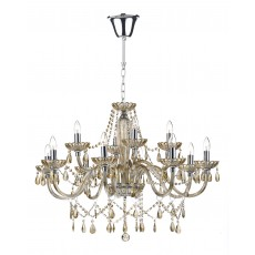 Dar Raphael 12 Light Champagne Crystal Chandelier Light