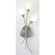 Diyas Rimini Wall Lamp 3 Light Satin Chrome/Opal Glass