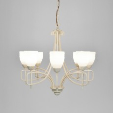 Diyas San Marino Pendant 8 Light Tex/Pewter/Frosted Glass