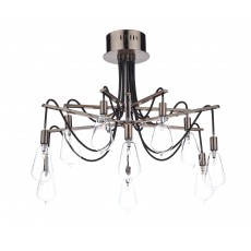 Dar Scroll 10 Light Copper Semi Flush Light