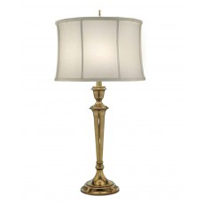 Stiffel Syracuse Burnished Brass Table Lamp