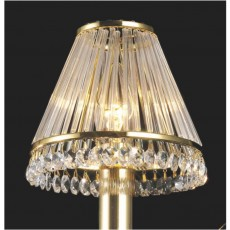 Diyas Crystal Clip-On Shade With Clear Glass Rods French Gold/Crystal