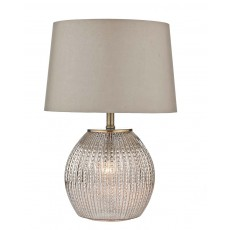 Dar Sonia Antique Silver complete with Shade Table Lamp
