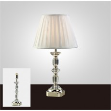 Diyas Sora Crystal Table Lamp Without Shade 1 Light Silver Finish