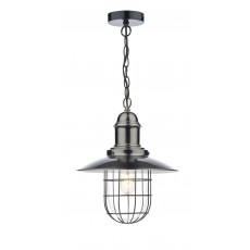 Dar Terrace 1 Light Antique Chrome Pendant Light