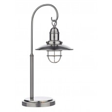 Dar Terrace Antique Chrome Table Lamp