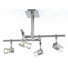 Diyas Ticino Semi Ceiling 4 Light Satin Chrome