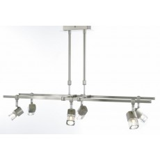 Diyas Ticino Telescopic Pendant 6 Light Satin Chrome