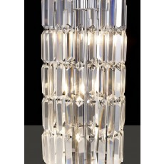 Diyas Torre Crystal 1 Meter Polished Chrome