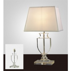 Diyas Valentino Crystal Table Lamp Without Shade 1 Light Silver Finish