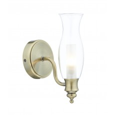 Dar Vestry 1 Light Antique Brass Wall Bracket Light
