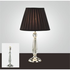 Diyas Zina Crystal Table Lamp Without Shade 1 Light Silver Finish